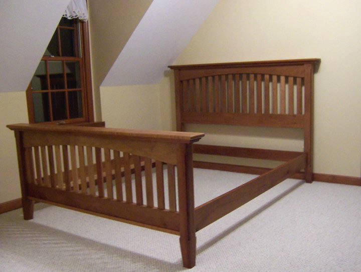 cherry bed frame